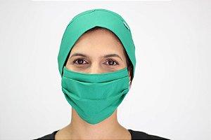 Conjunto de Bandana e Máscara Verde Esmeralda