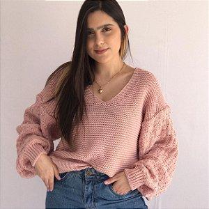 Suéter Tricô - Rosê