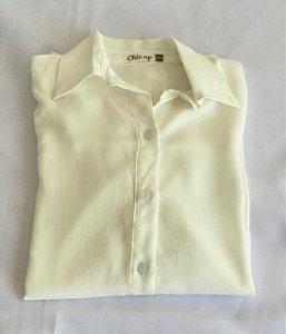 Camisa Botões - Off White