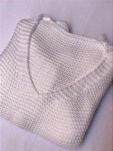 Suéter Tricô - Branco