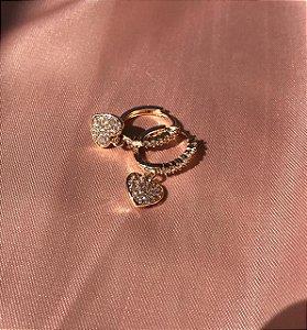Mini Argola Coração - Dourado