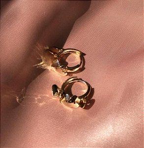 Mini Argola Mini Coração - Dourado