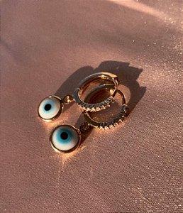 Mini Argola Olho Grego - Dourado