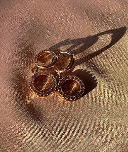 Mini Argola - Dourado