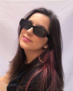 Óculos de Sol Retangular - Preto