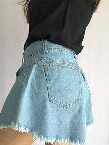Short Godê Jeans - Claro