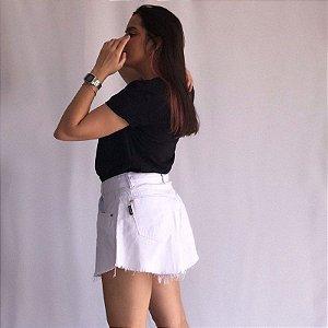 Short Godê Jeans - Branco