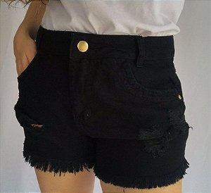 Short Jeans - Preto