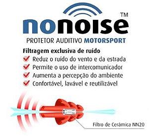 NONOISE MOTORSPORT PROTETOR AUDITIVO INTELIGENTE - FILTRAGEM EXCLUSIVA DE RUÍDO