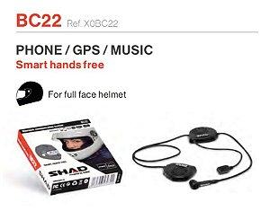 SHAD BC22 INTERCOMUNICADOR HANDS FREE INDIVIDUAL PILOTO - TELEFONE / GPS / MÚSICA