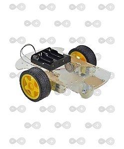 Carrinho Arduino / Carro Robô 2WD 200RPM Acrílico 3mm - Kit Chassi