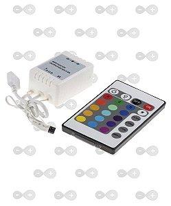 CONTROLADOR (FITA DE LED) RGB COM CONTROLE REMOTO