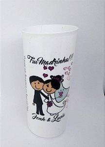 25 Copos Drink 350 ml tema Casamento