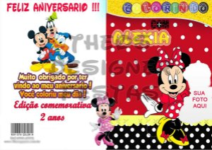10 Revistas de Colorir Qualquer Tema tamanho 15x21