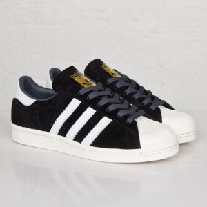 Tênis Adidas Superstar Foundation Preto Veludo - Importado