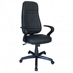 Poltrona Presidente Alta Costurada para escritório com base Relax