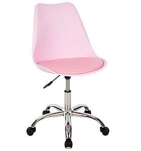 Cadeira Decorativa Giratória para Escritório ANM 6066 Diversas Cores