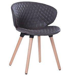 Cadeira Decorativa Anatômica para Escritório ANM 6717 Caramelo ou Preto