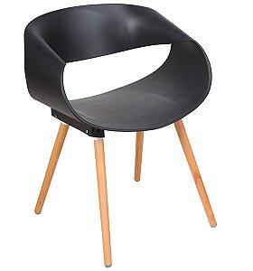 Cadeira Decorativa para Escritório ANM 8035 Preta ou Branca