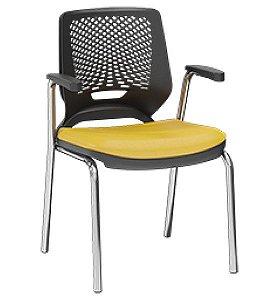 Cadeira Aproximação Fixa para Escritório Beezi 4 Pés