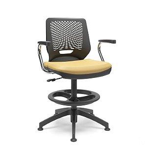 Cadeira alta para caixa em polipropileno Beezi