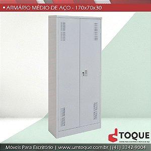 Armário de aço para escritório com 2 portas - 174x70x30 - Promocional