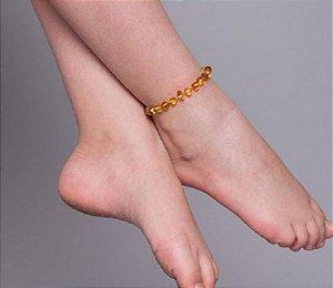 Tornozeleira de âmbar para crianças (20cm) - MEL - barroco polido