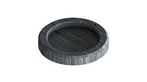 Base para forma 5X10 para cimento em aco inox