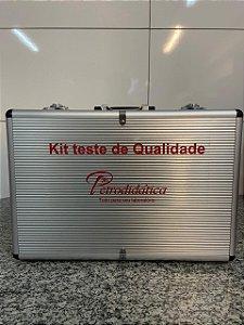 Kit de analise para combustiveis - Maleta prata