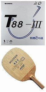 bd42271f4 COMBO - Raquete Caneta Yinhe 985 + Borracha Sanwei T88 III + Sidetape