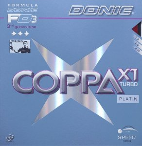 Borracha Donic - Coppa X1 Turbo Platin Tênis De Mesa