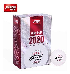 06 Bolas Dhs Dj40+ Tênis De Mesa - Oficial Olímpiadas Tóquio 2021