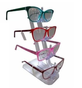 Expositor de Óculos Acrílico - 4 óculos
