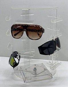Expositor de Óculos Acrílico Giratório