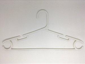Cabide Plástico Gaúcho Fino Branco - 12 unid.