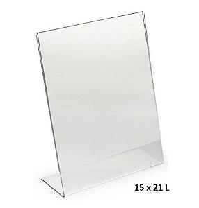 Porta Folheto Acrílico Inclinado 15x21cm