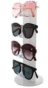 Expositor de Óculos Acrílico Torre - 4 óculos