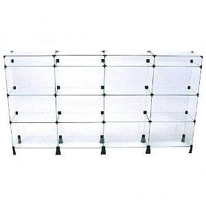 Balcão de Vidro 200L x 100A x 30P cm