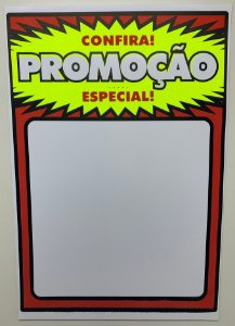 Etiqueta PVC Promoção - tam. Gigante