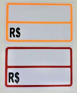 Etiqueta PVC Preço Grande - 20 unid.