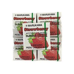 Goma de Mascar do Japão Bubble Gum Sabor Morango 5 unidades Marukawa