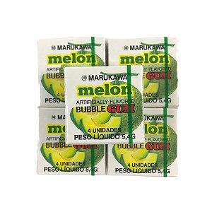 Goma de Mascar do Japão Bubble Gum Sabor Melão 5 unidades Marukawa