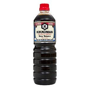 Molho de Soja Shoyu Tradicional Naturally Brewed Kikkoman - Frasco 1 litro