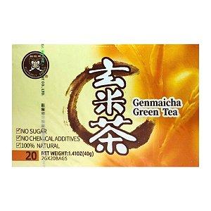 Chá Verde com Arroz Integral Genmaicha - 20 Sachês - Fujian