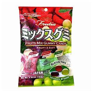 Bala Japonesa Mastigável Fruits Mix Kasugai Gummy Candy