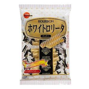 Biscoito Doce Japonês Folhado Chocolate Branco Bourbon White Rollita Cookie