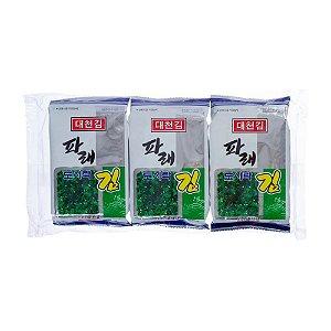 Alga Marinha Temperada Pare Kim Kit com 3 Pacotes de 4g Dae Chun