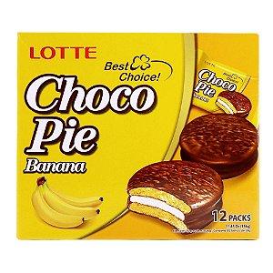 Choco Pie Alfajor de Banana 12 unidades Lotte