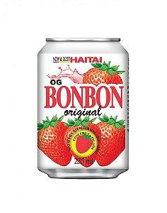 Bebida Suco de Morango com Pedaços 235ml Haitai Bonbon