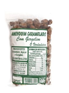 Amendoim Caramelado com Gergelim 300g O Verdadeiro